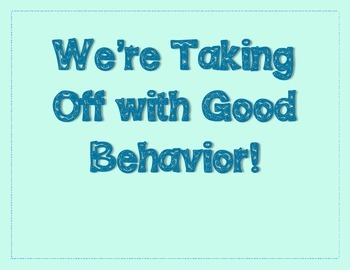 Bluebird Themed Behavior Chart