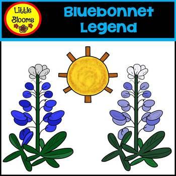 Bluebonnet Legend Clip Art