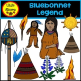 Bluebonnet Legend Clip Art