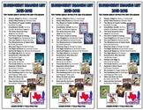 Texas Bluebonnet Reading List Bookmark 2015-16 *FREE*
