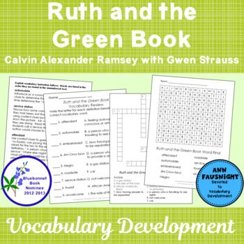 Bluebonnet Vocabulary: Ruth and the Green Book