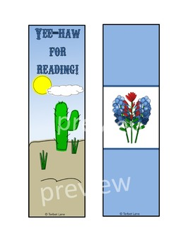 Bluebonnet and Cactus Book Report Forms and Reading Logs