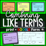 Combining Like Terms Blueprint Activity