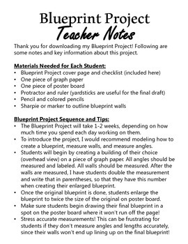 Blueprint Project (Geometry Math Project for Upper Grades)