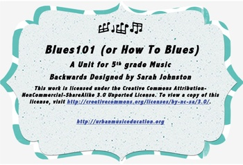Blues 101 (How To Blues)- A Unit for 5th Grade Music