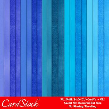 Blues Cardstock Digital Papers Package 1