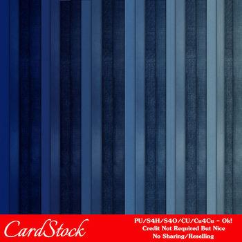 Blues Cardstock Digital Papers Package 3