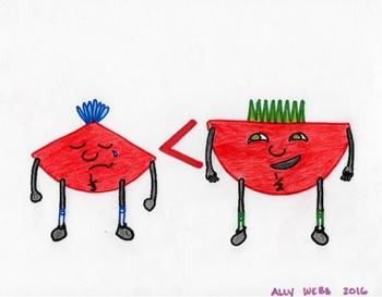 Blues Cartoon 3--Printable Montessori Fractions Cards