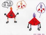 Blues Cartoon 6--Printable Montessori Fractions Cards