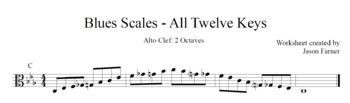 Blues Scales - Alto Clef