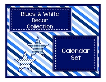 Blues & White Decor: Calendar Set