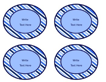 Blues & White Decor: Class Jobs Header & Editable Job Labels