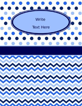 Blues & White Decor: Editable Binder Covers & Spines