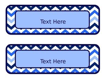 Blues & White Decor: Editable Passes