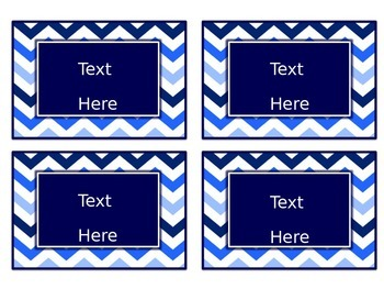 Blues & White Decor: Editable Small Labels