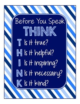 Blues & White Decor: THINK Poster