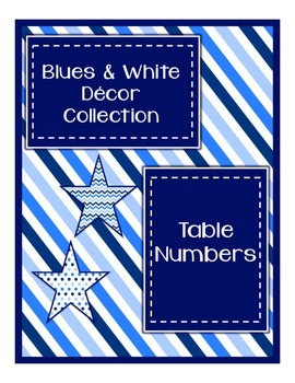 Blues & White Decor: Table Numbers