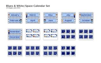 Blues & White/Space Decor: Decor Bundle