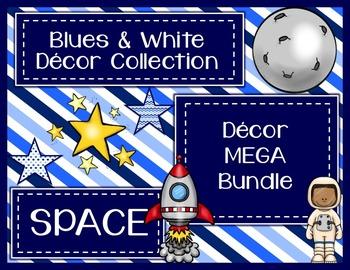 Blues & White/Space Decor: Decor MEGA Bundle