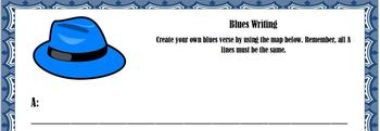 Blues Writing Template