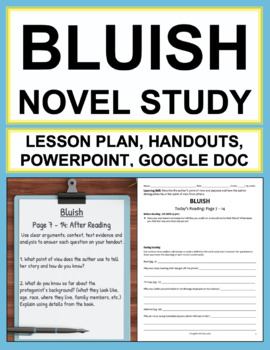 Bluish Novel Study Lessons & Student Packet