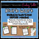 Blurb Work Strategy--Get to Know a Book BEFORE Reading  Distance Learning