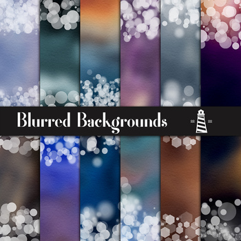 Colorful Blurred Papers, Bokeh Confetti, Blurred Backgrounds With Bokeh Borders
