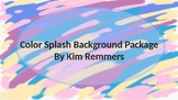 Blurred Color Splash Power Point Backgrounds