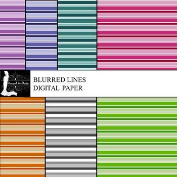 Blurred Lines Digital Paper