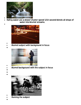 Blurred Motion in Photography