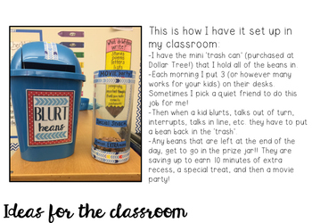 Blurt Beans ~ Labels and Directions ~ FREEBIE!