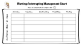 Blurting/Interrupting Behavior Management Chart for ADHD Students