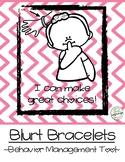 Behavior Chart Individual- Blurt Bracelets