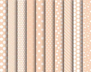 Blush Dot Papers, Blush, Dot, Set #247