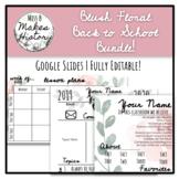 Blush Floral- Back to School Bundle! GOOGLE SLIDES!