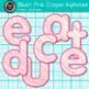 Blush Pink Crayon Alphabet Clip Art {Great for Classroom Decor & Resources}