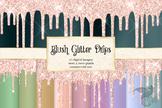 Blush Pink Glitter Drips