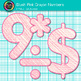 Blush Pink Math Numbers Clip Art {Great for Classroom Decor & Resources}