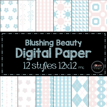 Blushing Beauty Digital Paper