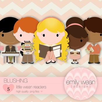 Blushing - Little Readers Clip Art