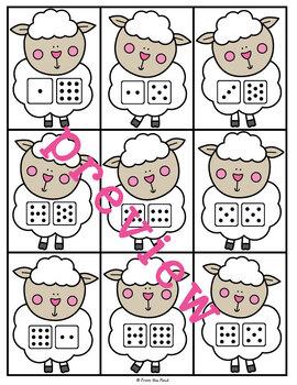 Bo Peep's Sheep - Print & Laminate Game Teaching Addition