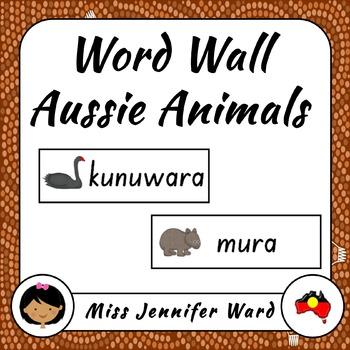 Australian Animals in Boandik Word Wall