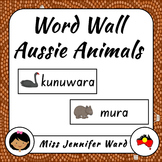 Australian Animals in Boandik Word Wall