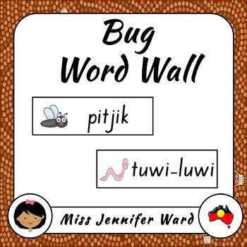 Bugs in Boandik Word Wall