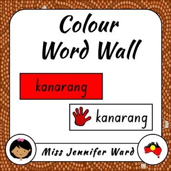 Colors Word Wall in Boandik