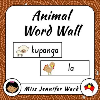 Farm Animals Word Wall in Boandik
