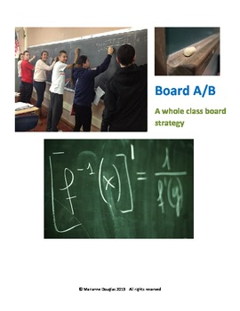 Board A/B - A full class board strategy for learning, revi