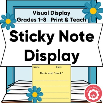 Sticky Note Display: Template, Lettering, Flowers