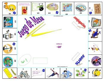 Board Game Accompaniment:  -ar Imperfect, Conditional, & Future