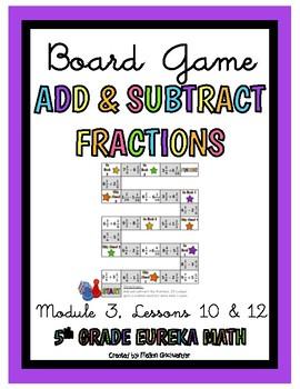 Eureka Math 5th Grade Math Center- Adding & Subtracting Fractions
